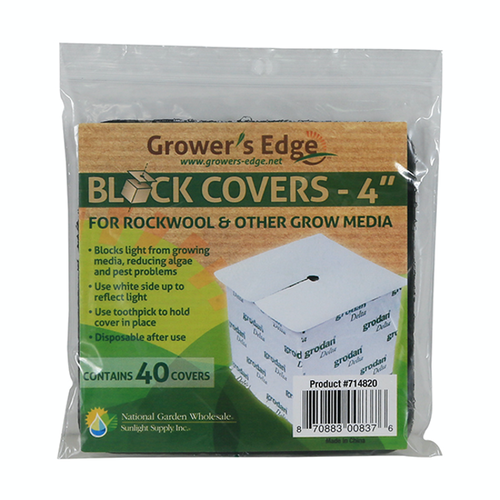 Growers Edge Grower's Edge Block Covers 4 in (40/Pack)