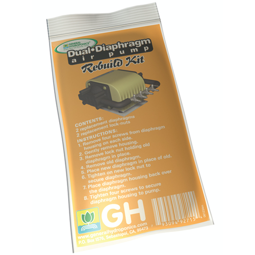 General Hydroponics GH Dual Diaphragm Air Pump Rebuild Kit (5/Cs)