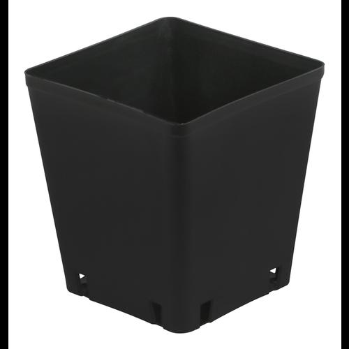 Gro Pro Black Plastic Square Pot 5 x 5 x 5.25 in (8400/Plt)
