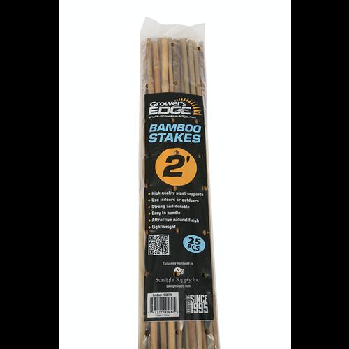 Growers Edge Grower's Edge Natural Bamboo 2 ft - 25/Bag (20 Bags/Bundle)