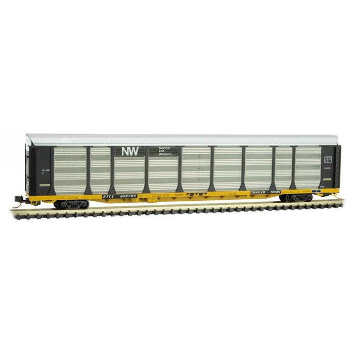 N 89' Tri-level Autorack N&W #800795