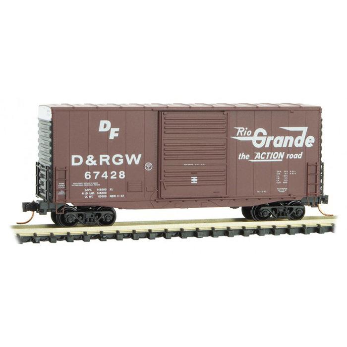 N 40' Hy-Cube Box Car D&RGW #67428