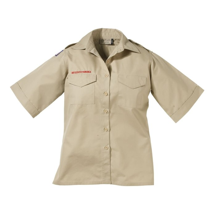 Ladies SS Poplin Shirt Lg
