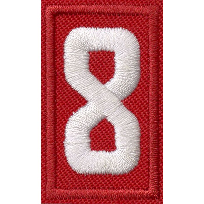 Cub Scout Red Number 8