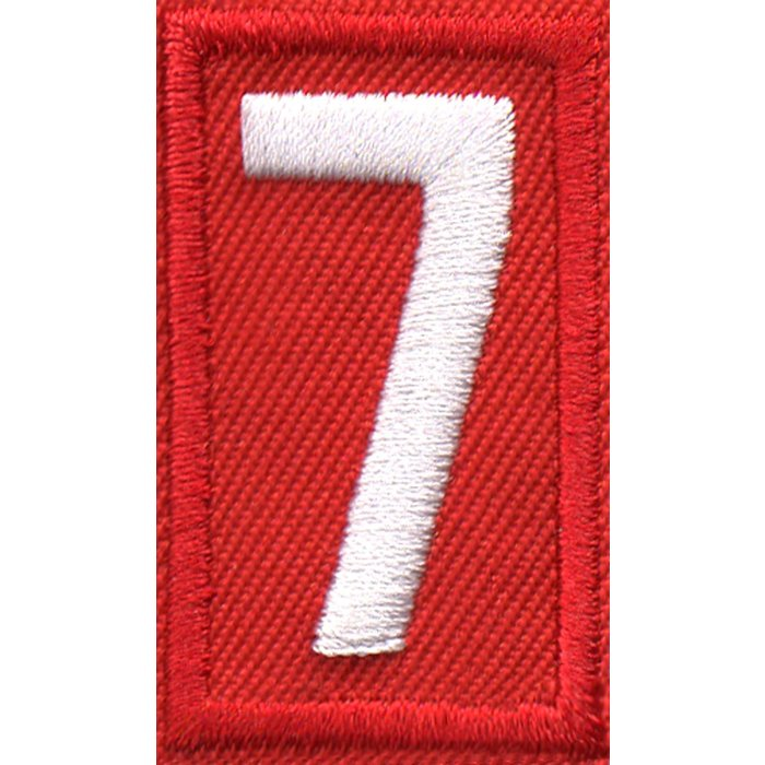 Cub Scout Red Number 7
