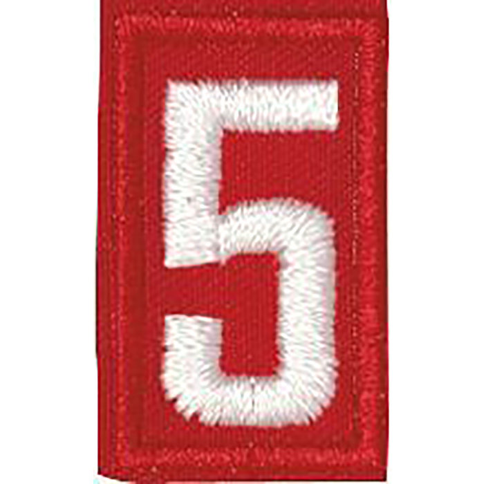 Cub Scout Red Number 5