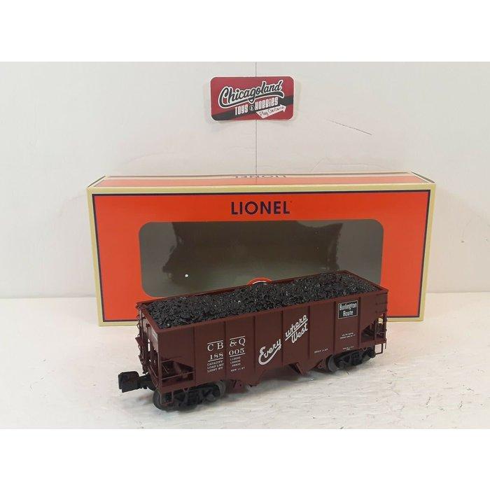 Lionel 6-81692 O CB&Q 50-Ton Twin Hopper #188005