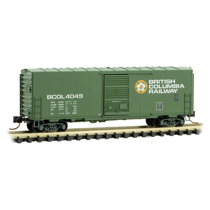 N 40' Standard Box Car British Columbia Rail