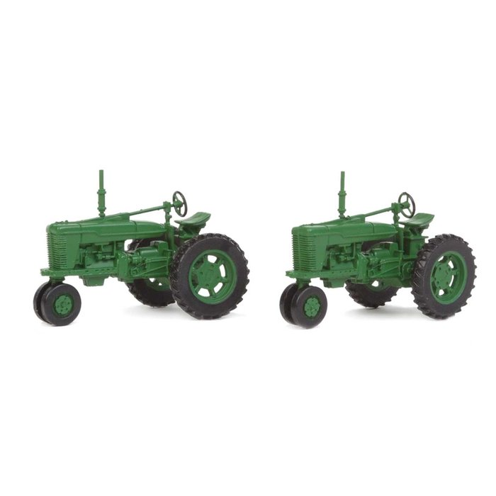 HO Farm Tractor Green 2 pack