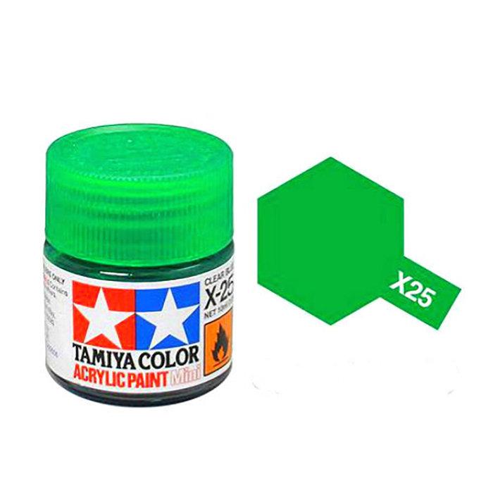 Mini Acrylic X-25 Clear Green/10ml