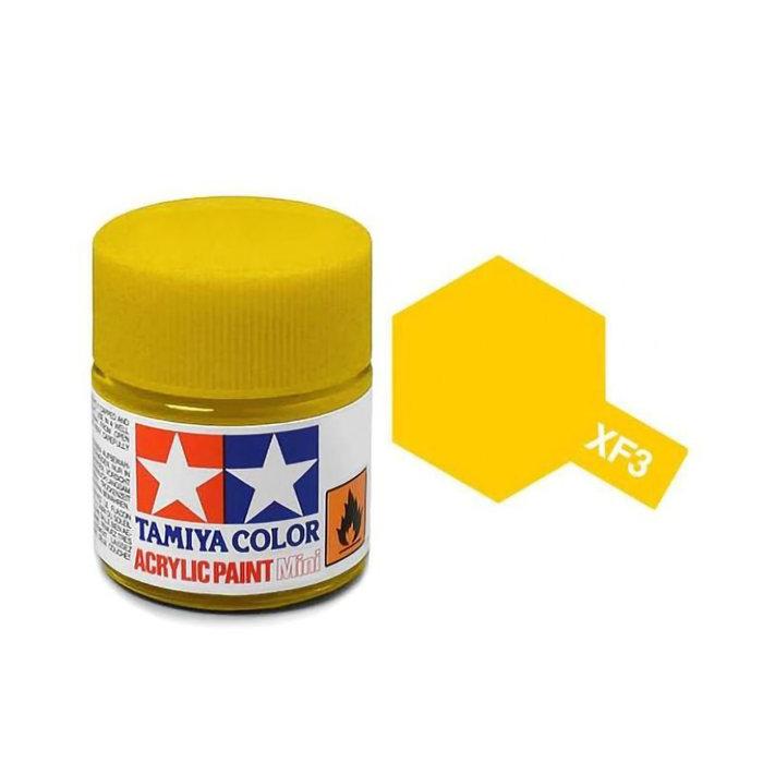 Mini Acrylic XF-3 Flat Yellow/10ml