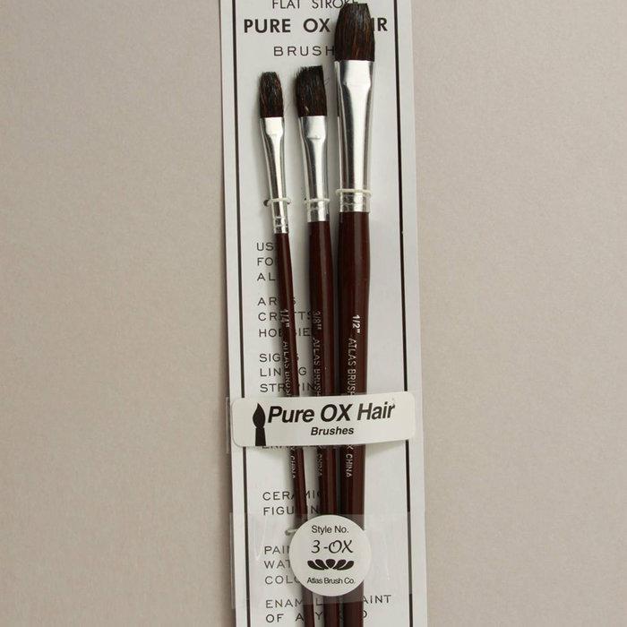 Ox Hair Flat Brush Set