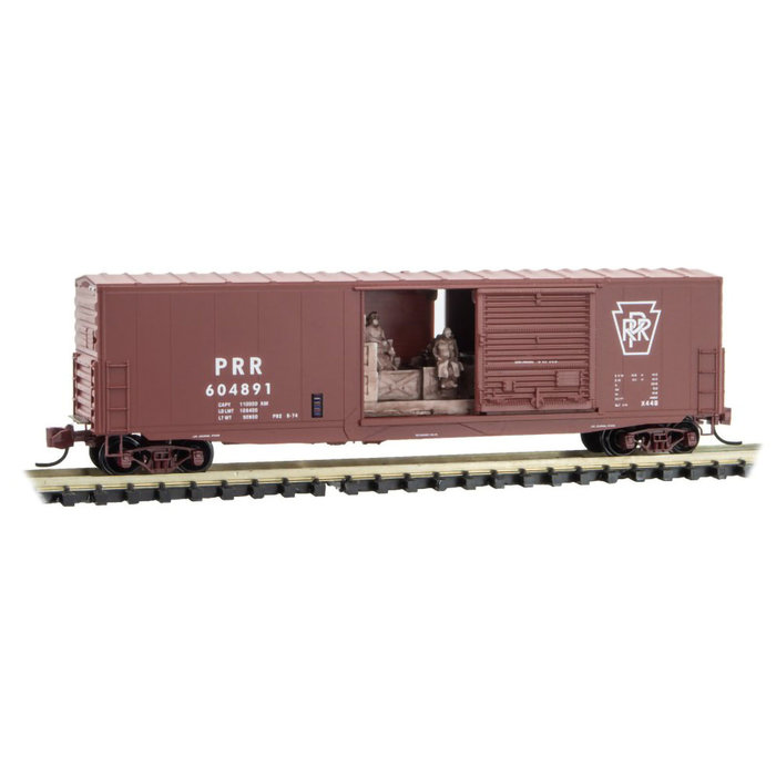 N 50' Box Car Pennsy with Load Rd# 604891
