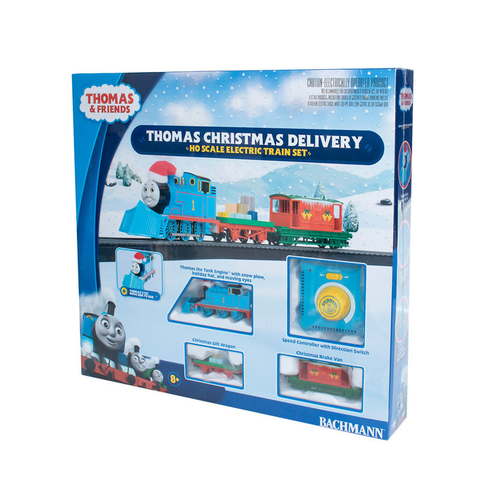 HO Thomas' Christmas Delivery Set w/Moving Eyes