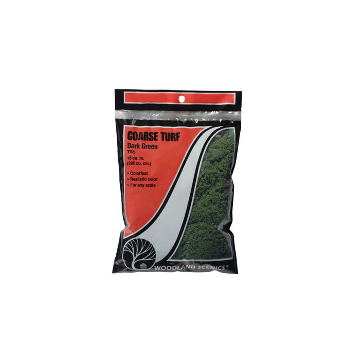 Coarse Turf Bag, Dark Green/18 cu. in.