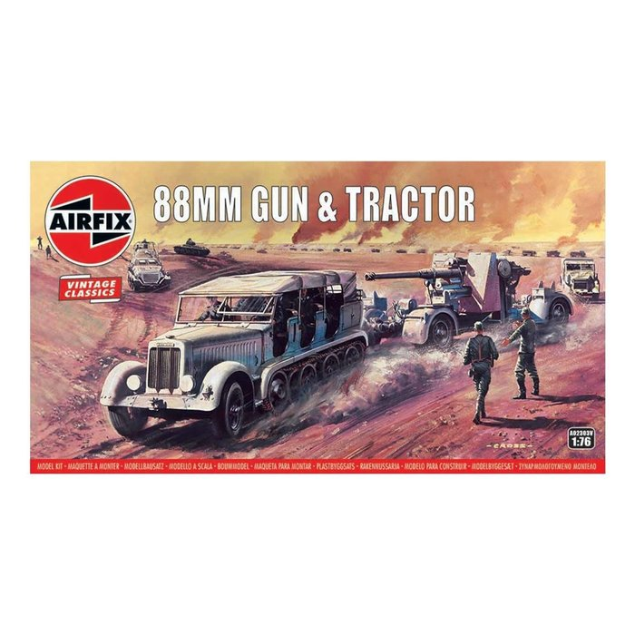 88mm Flak Gun & Tractor Kit