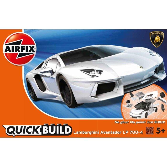 QUICKBUILD Lamborghini Aventador - White