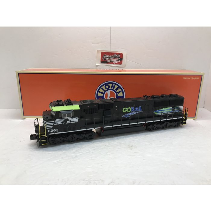 "Lionel 6-83421 O NS #6963 ""Go Rail""  SD60E Diesel  W/LCS (BTO)"