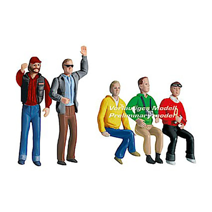 Set of figures, audience (5 pieces)