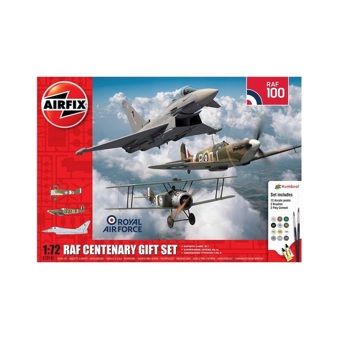 RAF Centenary: Sopwith Camel/Eurofighter Typhoon/Spitfire Mk.Ia Gift Set