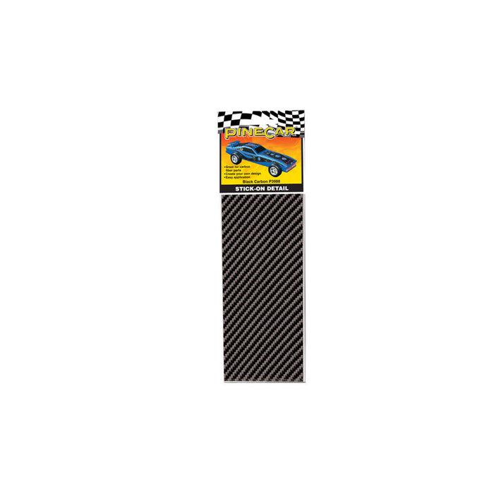 Black Carbon Stick-on Decals
