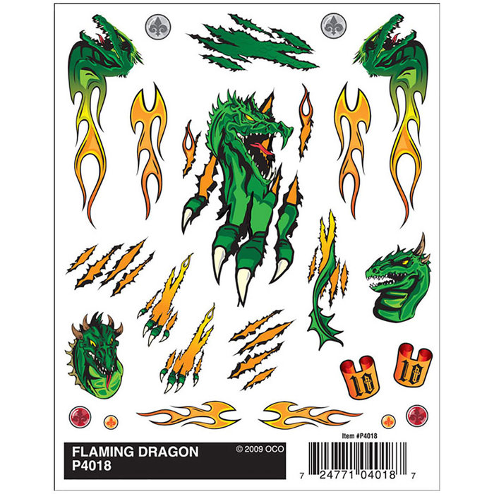 Flaming Dragon Dry Transfer