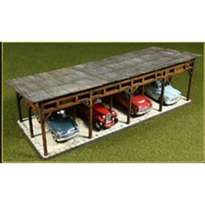 HO Lasercut Car Shed Kit