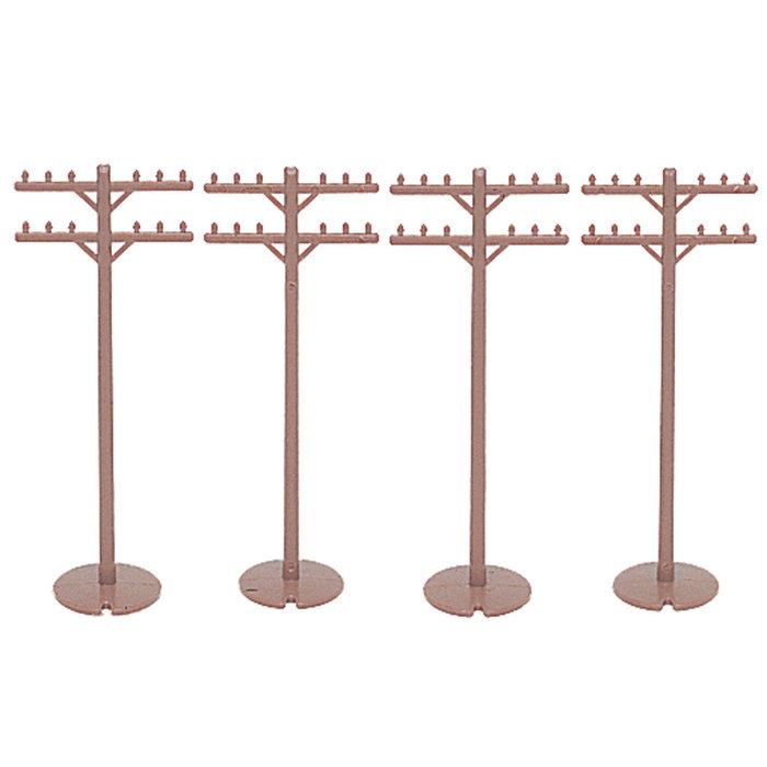 HO Telephone Poles/12pc