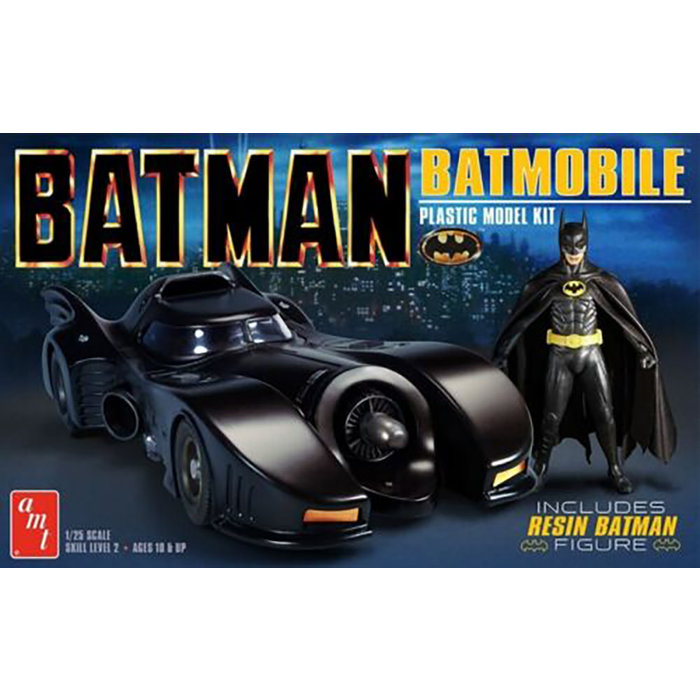 1/25 Batman 1989 Batmobile w/Resin Batman Figure Skill 2