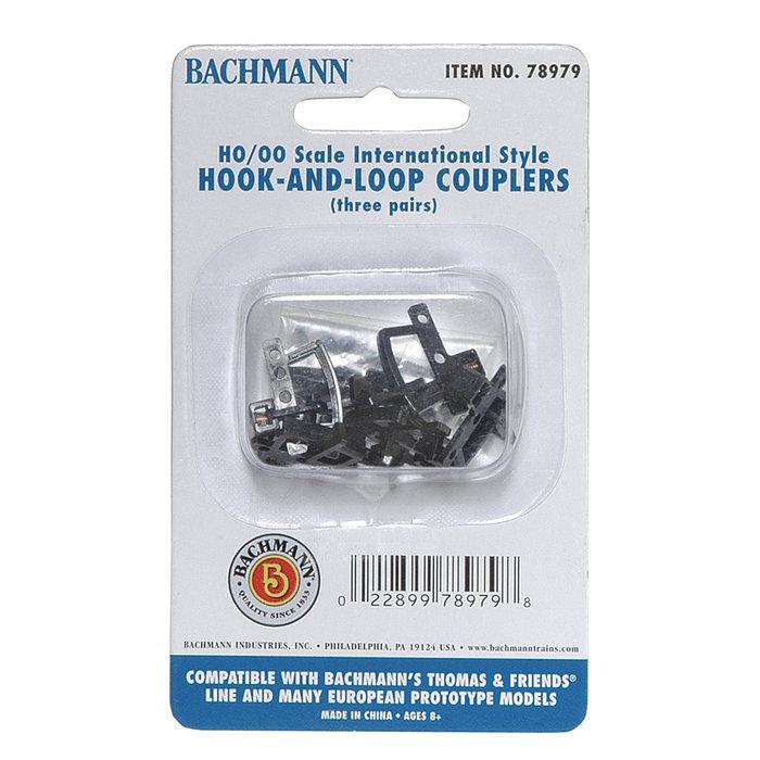 HO TTT Hook & Loop Couplers/3pr