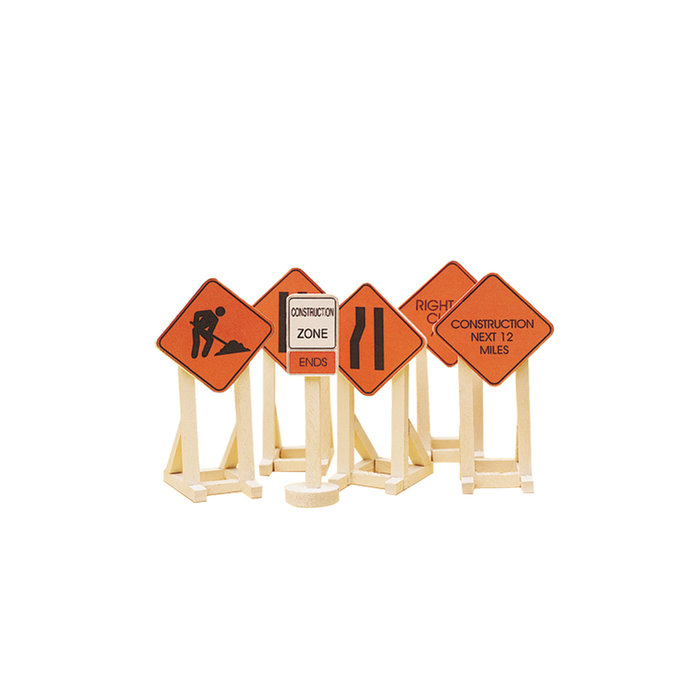 O Construction Zone Signs/6pk