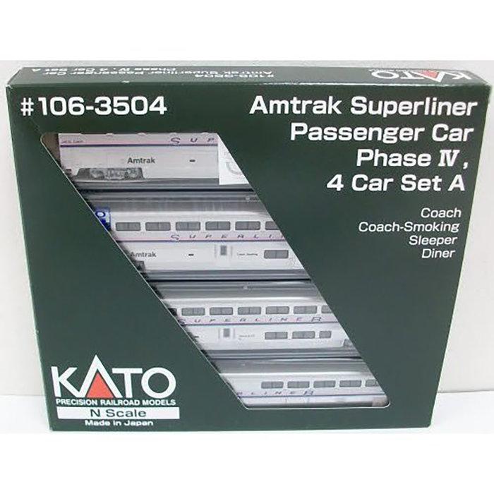 N Superliner 4 Car Set Phase 4 Set A Amtrak