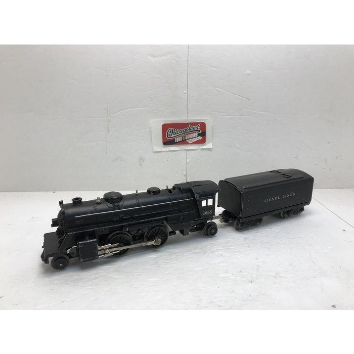 Lionel O 1655 2-4-2 W/6654W Tender (No Box)