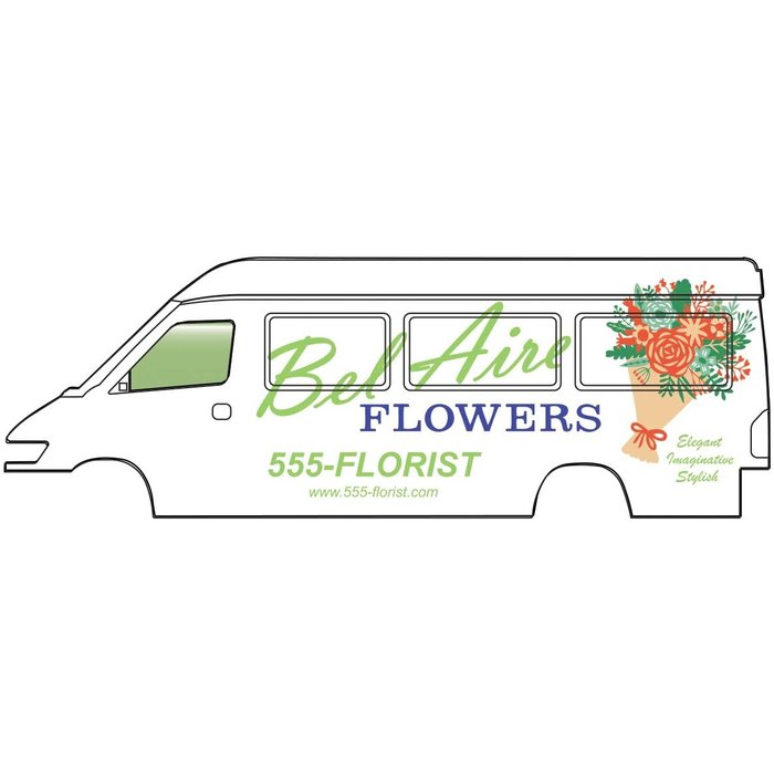 HO Service & Delivery Vans Bel Aire Flowers