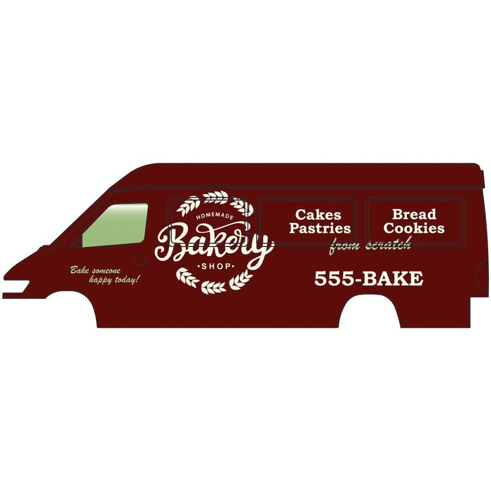HO Service & Delivery Vans Homemade Bakery