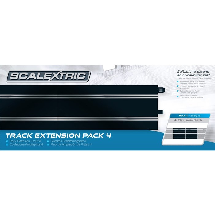 Track Extension Pack 4 - 4 x Standard Straights
