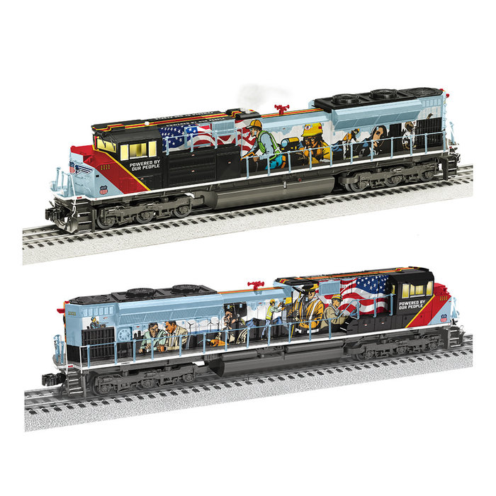"""Lionel 2033600 O UP #1111 """"Powered by our People"""" SD70AH W/Legacy (BTO)"""