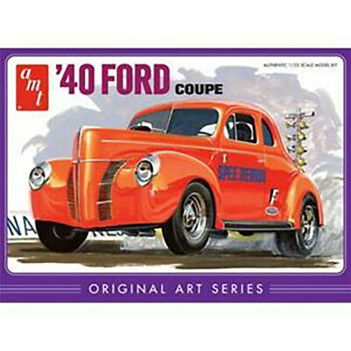40 FORD COUPE WHITE          1/25
