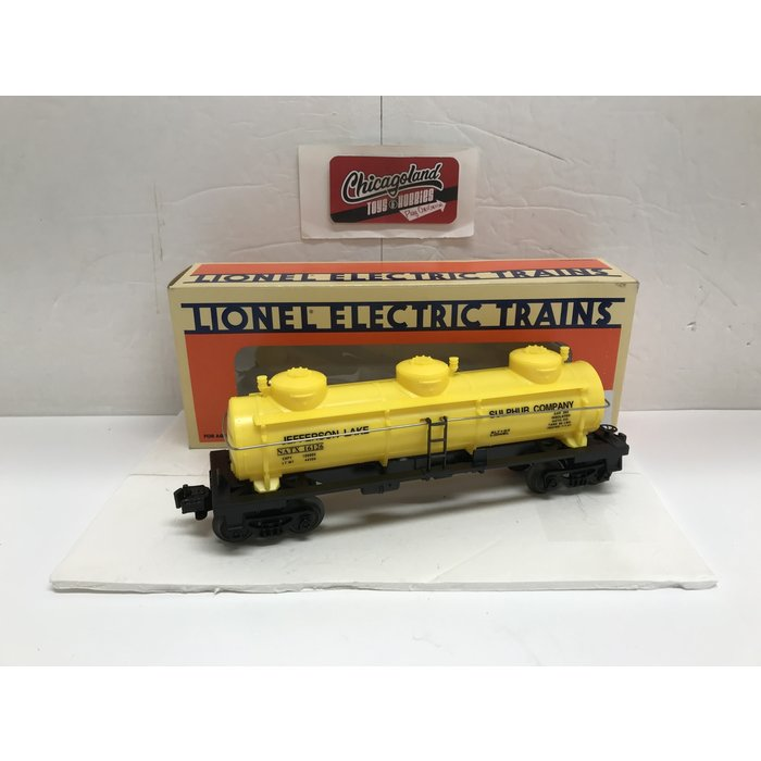 Lionel 6-16126 O  Jefferson Lake Sulfur Three Dome Tank Car