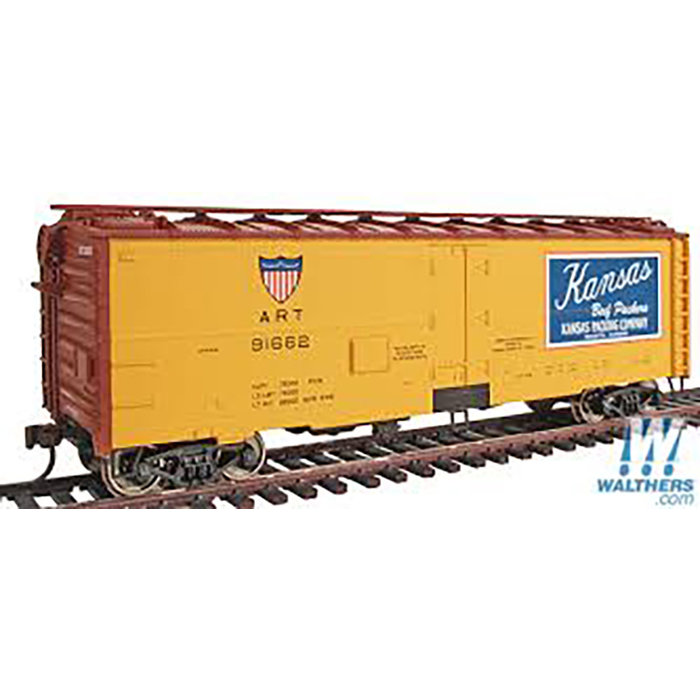 Walthers 932-2587 HO 40' Meat Reefer Kansas #91662