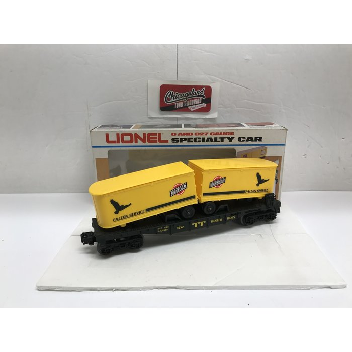 Lionel 6-9352 O Chicago & North Western Piggyback Flat Car w/Vans