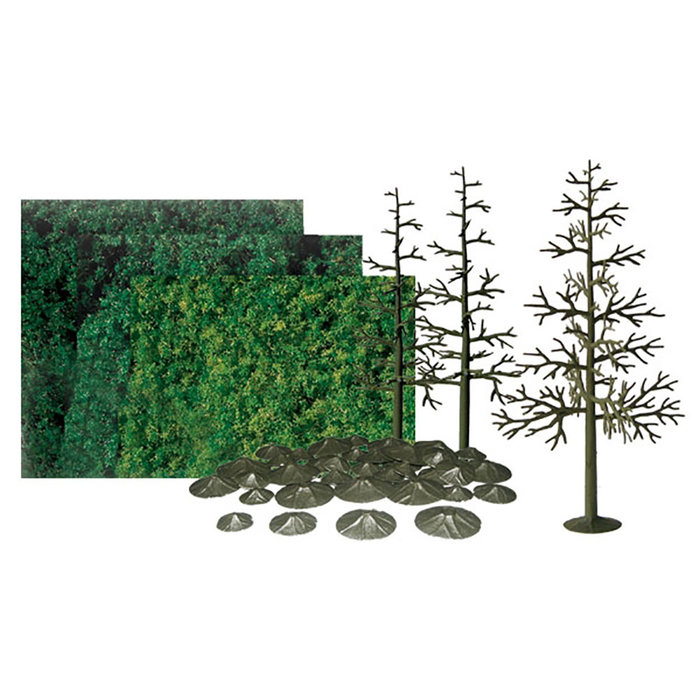 All-Scales Pine 8'' Scenic Kit/6pk