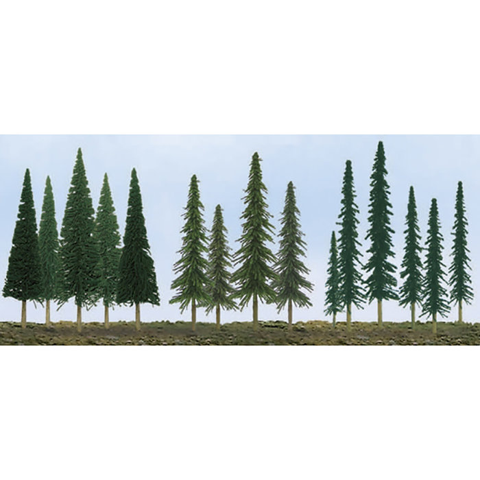 BULK EVERGREENS 2.5'' to 6'' SCENIC N to HO-scale: pine coni