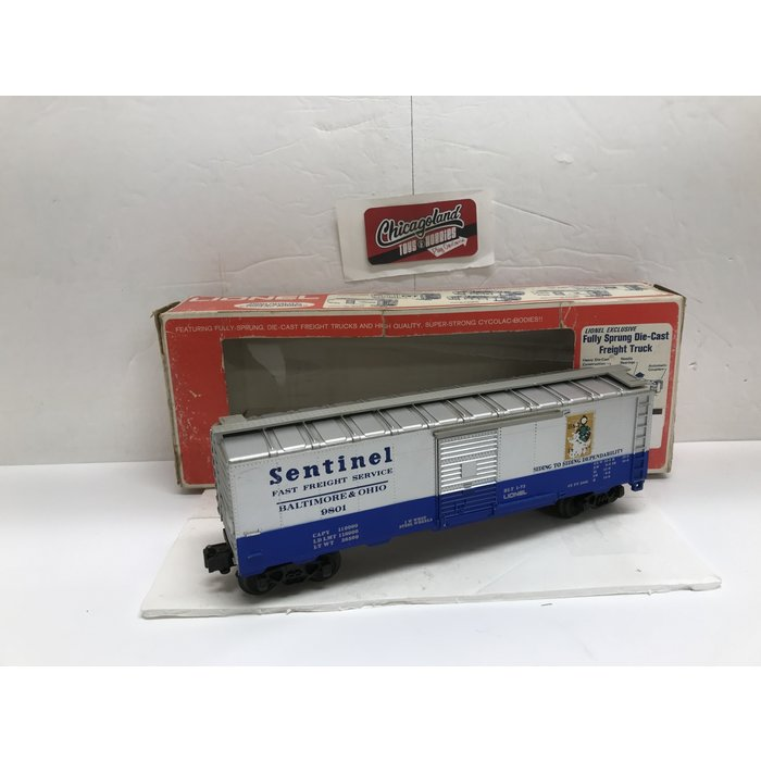 Lionel 6-9801 O B&O Sentinel Box Car