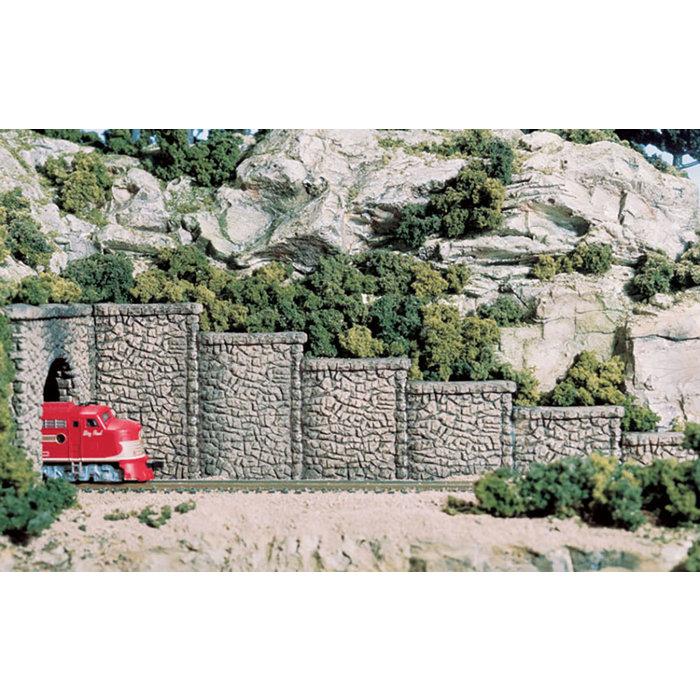 HO Random Stone retaining/wing walls