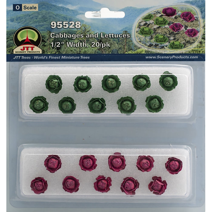 O Cabbages & Lettuces 1/2''/20pk
