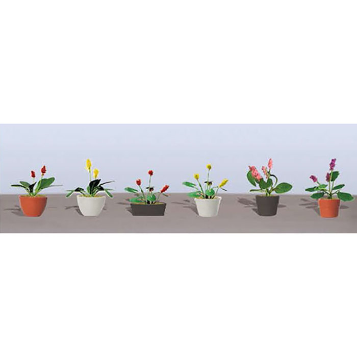 HO Flower Plants Potted Assortment #3/6pk