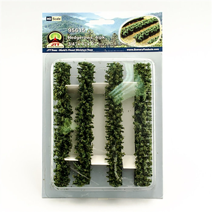 Hedgerows 3/4''x 1''x 6'' HO-scale 4/pk