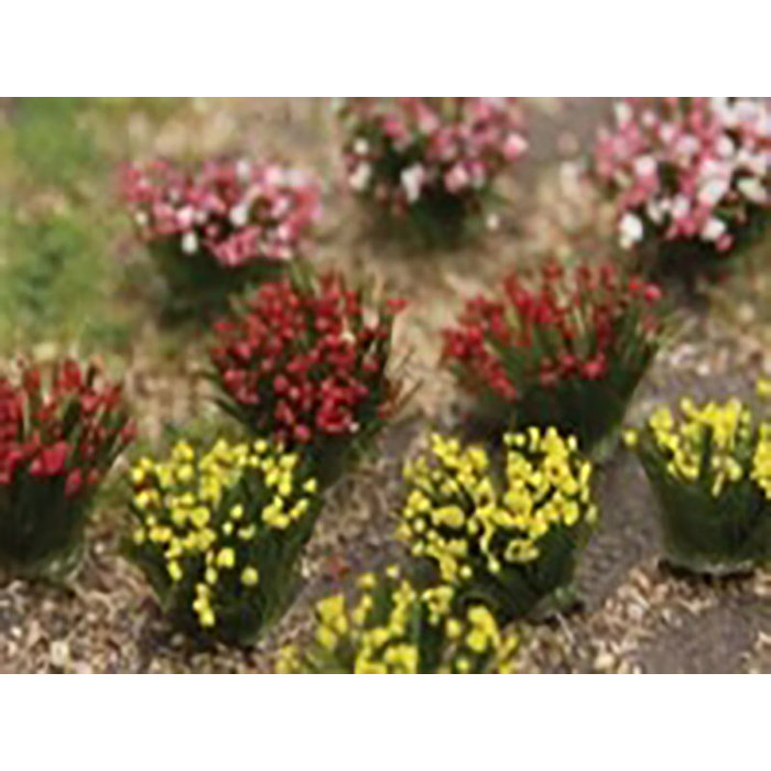 Flower Bushes: Red, Pink, Yellow 48 pk