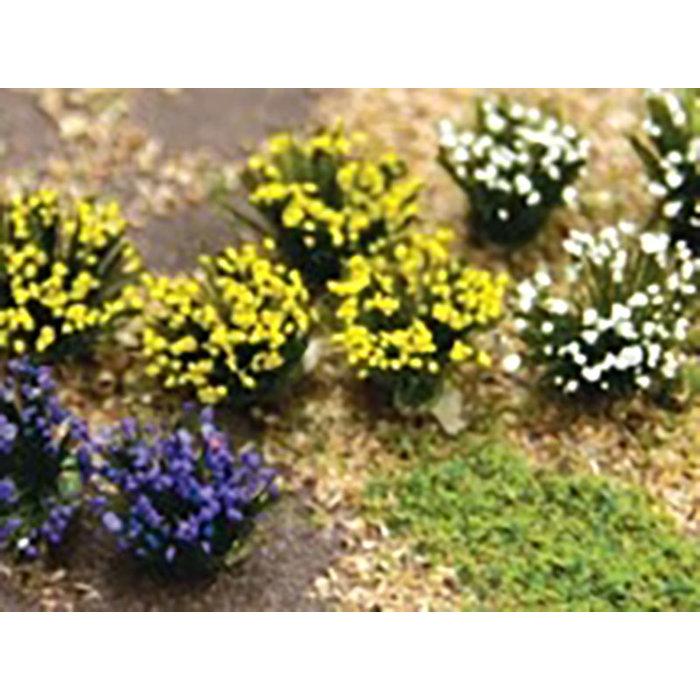 Flower Bushes: Purple, Blue, White 48 pk